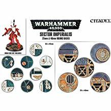 SECTOR IMPERIALIS: 25 & 40MM ROUND BASES CMKDBWFW0R17C