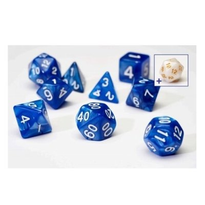 Sirius Dice Pearl Blue With White Acrylic