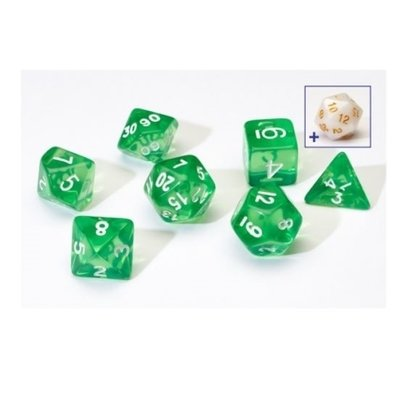 Sirius Dice Green With White Resin