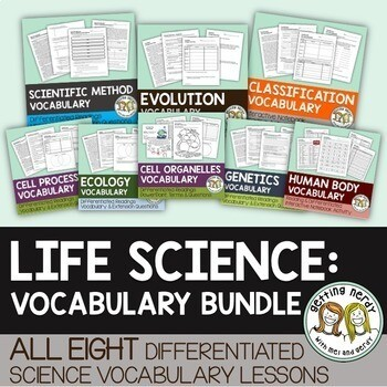 Life Science Vocabulary Bundle