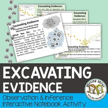 Observation & Inference Interactive Notebook Activity with PowerPoint