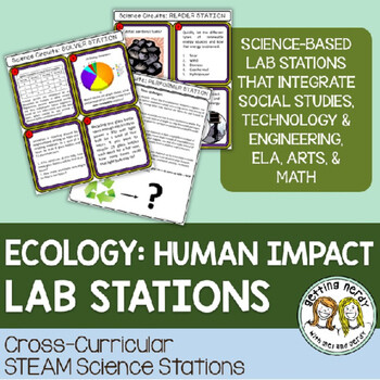 Human Impact - Cross-curricular STEAM Science Centers / Lab Stations for Ecology