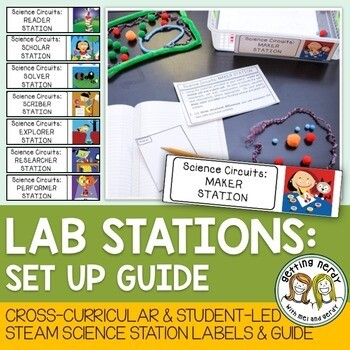 Science Centers / Lab Stations Set-Up - Cross-Curricular and STEAM based