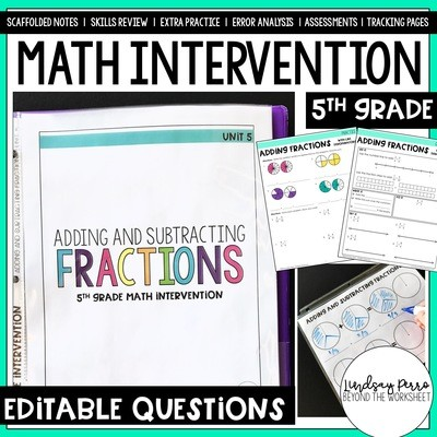 Adding and Subtracting Fractions Intervention Unit