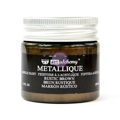 Rustic Brown - Metallique Acrylic Paint - Prima Art Alchemy