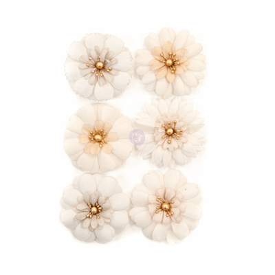 Pale Petals - Pretty Pale Flowers - Prima
