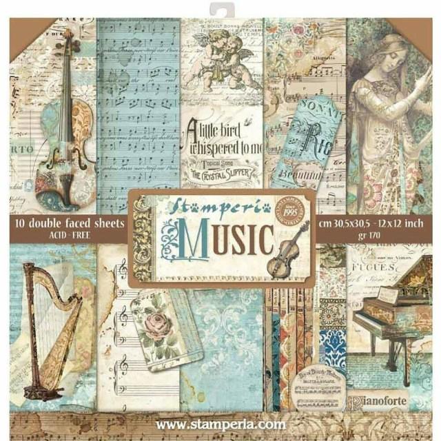 Stamperia Music - 12 x 12 Paper Pad