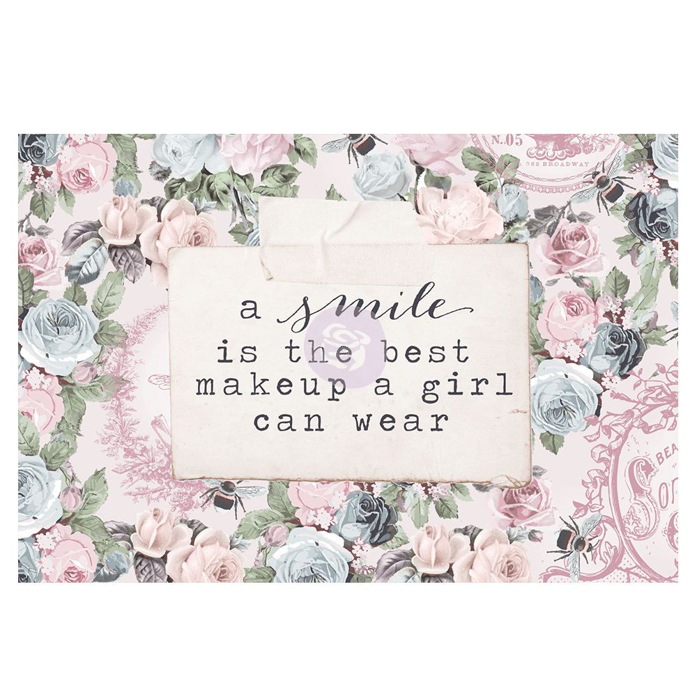 Poetic Rose 4x6 Journal Cards