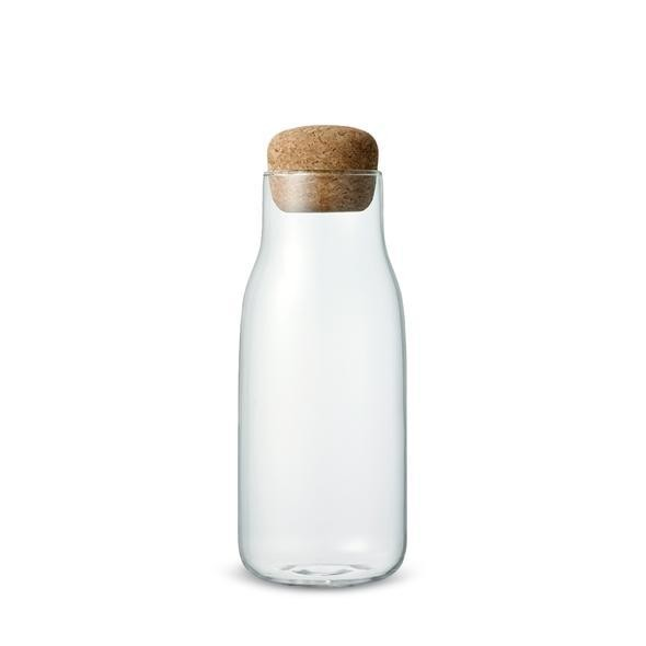 Glass bottle container with cork - 600ml