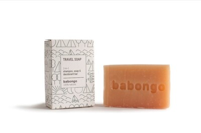 Travel soap 3-in-one
