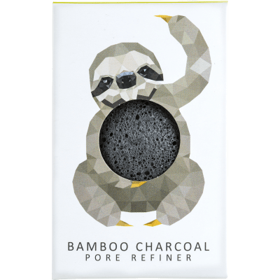 KONJAC MINI PORE REFINER RAINFOREST SLOTH BAMBOO CHARCOAL