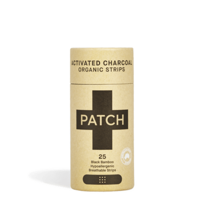 Compostable Bandages - Activated Charcoal Adhesive Strips - Tube of 25 - Patch