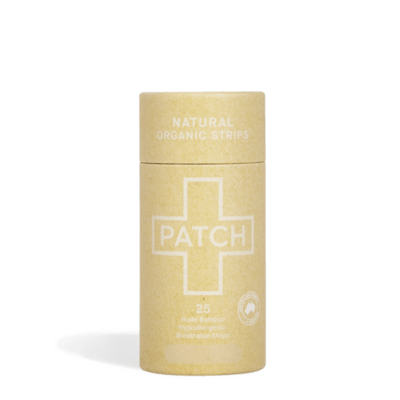 Compostable Bandages - Natural Adhesive Strips - Tube of 25 - Patch