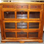 Barrister Bookcase Display Cabinet W Drop Down Doors
