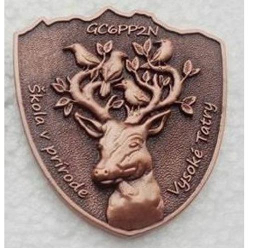 Geocoin ŠVP – V. Tatry, Antique Copper 00012