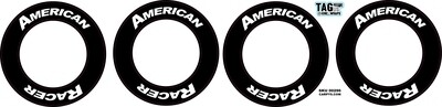 American Racer | CRC Rubber Tire Side Wall Decal