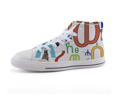 ፊደል ጫማ Geez Fidel Canvas Shoes