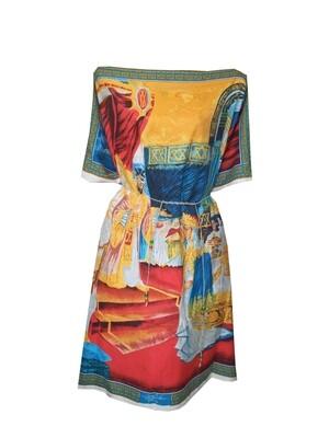 የዓለም ሎሬት ሜትር አርቲስት አፈወርቅ ተክሌ ስእሎች ያለበት የሴቶች አጭር ቀሚስ | Women Short Dress / free size
