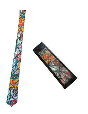 የዓለም ሎሬት ሜትር አርቲስት አፈወርቅ ተክሌ ስእሎች ያሉበት የወንዶች ከረባት Necktie For Men