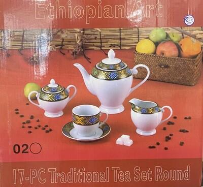 የሻይ ሲኒ እና ማቀረቢያ Tea Set