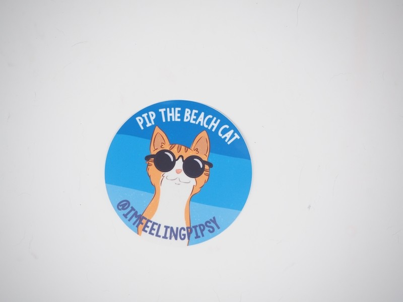 Pip in Sunglasses Large Sticker 4