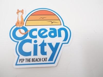 Pip and the Classic Ocean City Logo Sticker