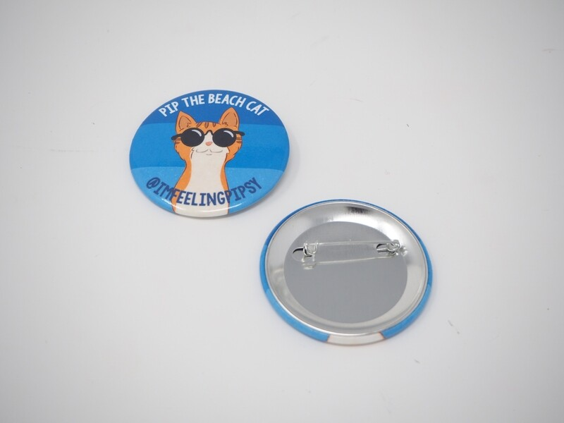 Pip with Shades Button Pin