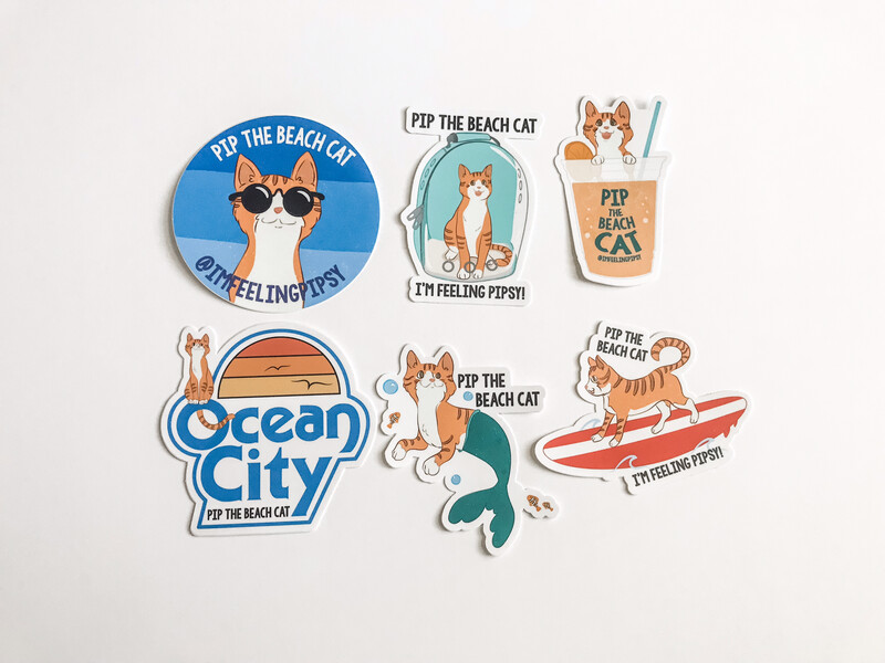 Large Pip Stickers 6-Pack