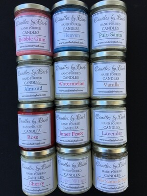 Hand Poured 9 oz Soy Candle -Various Scents