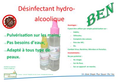 Solution Désinfectant Hydro-alcoolique 100 ml