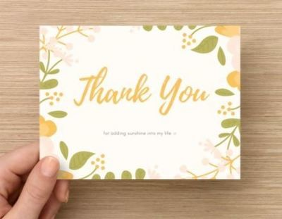 Thank You for Adding Sunshine Card