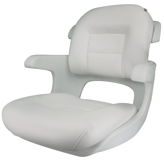 white cushion chair x rocker pedestal gaming instructions elite helm low back boat seat shell