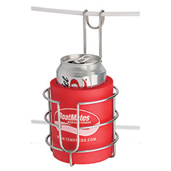BoatMates® Sailbuoy Stainless Steel Drink Holder - Red Can Cooler