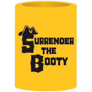 Can Cooler - Surrender The Booty - Yellow/Black