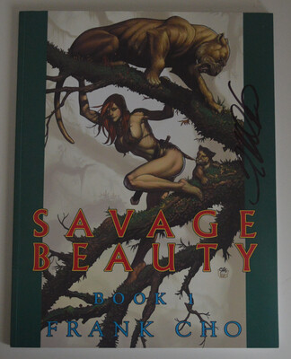 Frank Cho Savage Beauty Sketch Book SIGNED