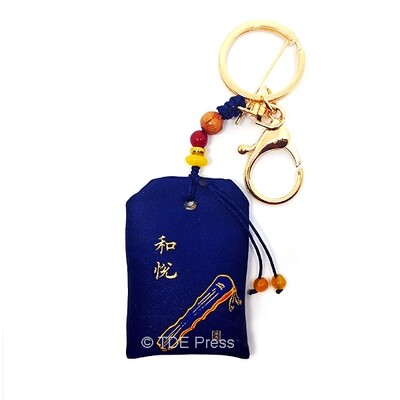 Perfume Pouch Keychain Blue