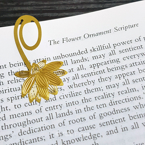 Golden Lotus Clip-on Bookmark