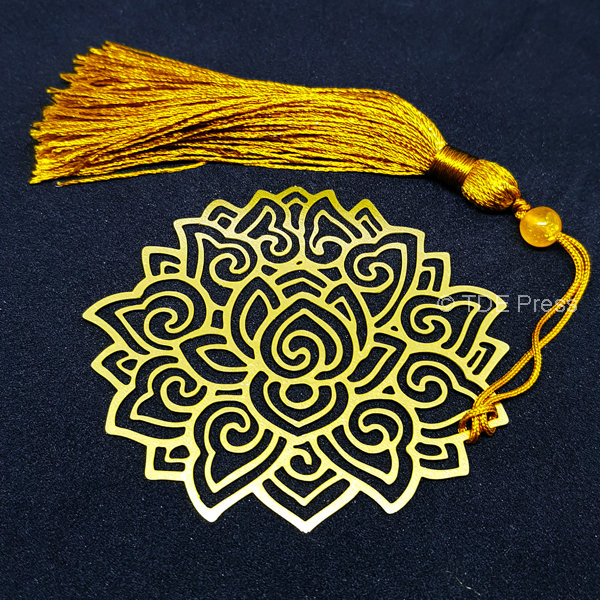 Golden Lotus Bookmark 5