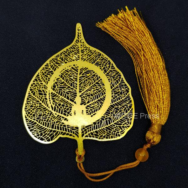 Golden Bodhi Leaf Bookmark