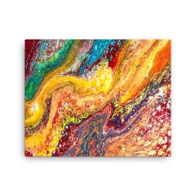 Girl Like Lava Canvas Art Print