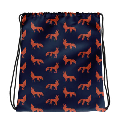 Wild Foxes Drawstring bag