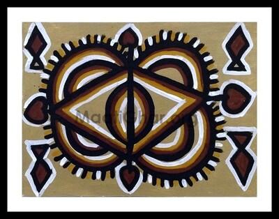 Sohrai Painting - Marriage Chouk 1 (15x11 in)