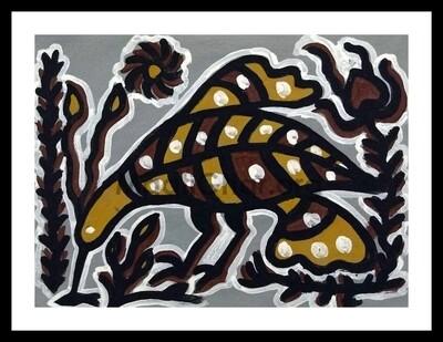 Sohrai Painting - Peacock (15x11 in)