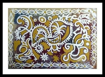 Sohrai Painting - Birds (22x15 in)