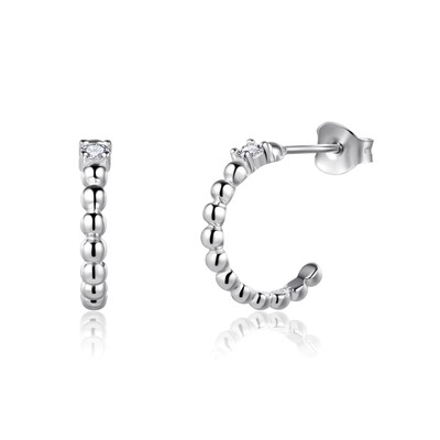 Sterling Silver Bubble Earrings with Cubic Zirconia