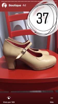 Zapatos profesionales Flamenco Roberto Garrudo N: 37 Modelo especial Matilde Coral