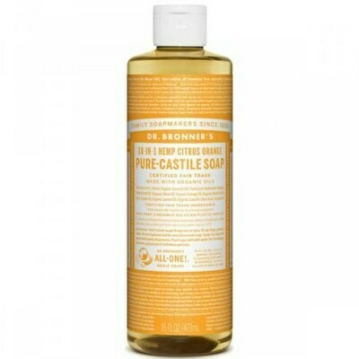 DR BRONNERS ΥΓΡΟ ΣΑΠΟΥΝΙ PURE-CASTILE CITRUS - ORANCE  475ml