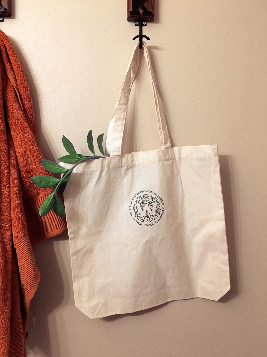 Logo Cotton Tote Bag