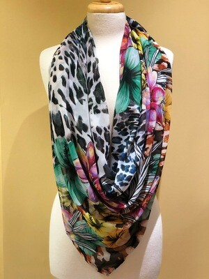 Jungle Chiffon Square Scarf