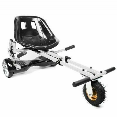 White Suspension HoverKart Go Kart Convertion For Hoverboard Segway